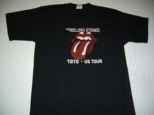Rolling Stones t shirt mens Small Rock 1972 US tour