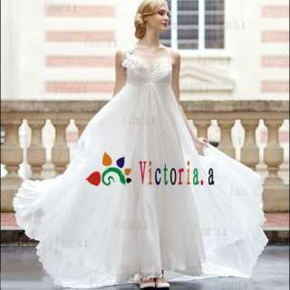 Custom White/Ivory Chiffon Fold Wedding Dresses/Gowns Size4 6 8 10 12