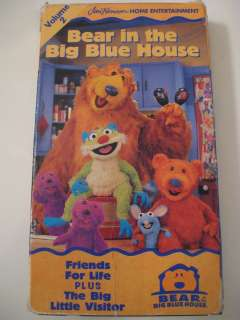 Big Blue House FRIENDS FOR LIFE + THE BIG LITTLE VISITOR Disney VHS