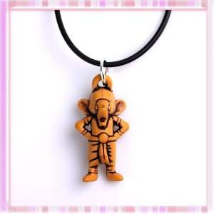 Cute Cartoon Elephant Acrylic Stand Pendant Hide Rope Necklace 1 Set