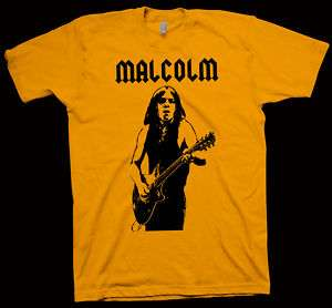 MALCOLM YOUNG T Shirt AC/DC METALLICA ACCEPT RATT lp cd