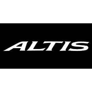 Toyota Altis Windshield Vinyl Banner Decal 36 x 4