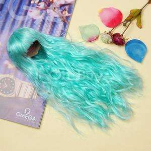Aqua Doll Hair wig (Wavy hair Curly w/ 2 Plaits)