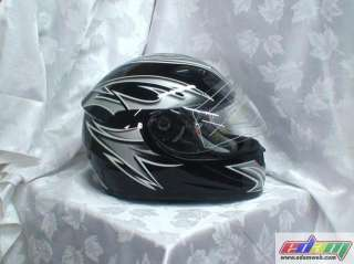 NEW DOT BLACK MOTORCYCLE FULL FACE MOTOCROSS HELMET Sm