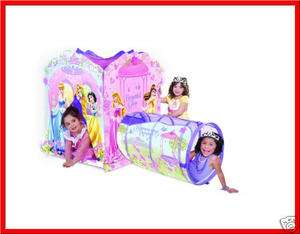 Disney PRINCESS ADVENTURE HUT Play Tent + Tunnel EZ Setup & Storage