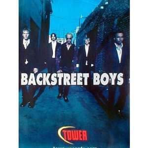 Backstreet Boys Tower Records promo POSTER Nick Carter