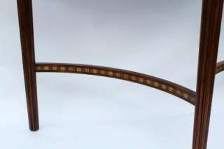 1920s Art Deco Walnut and Burl Inlaid Console Table
