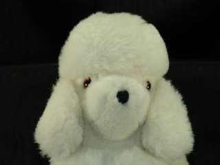 Vintage 12 Kamar Plush White Toy Poodle Puppy Dog Toy