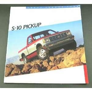 1986 86 Chevrolet Chevy S 10 PICKUP Truck BROCHURE