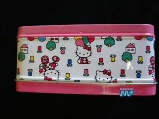 Hello Kitty Ballons Embossed Figurine Tin Lunch Box New