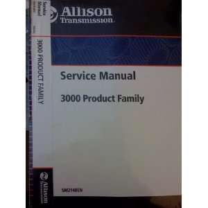 Allison Transmissions Service Manual 3000 Product Family