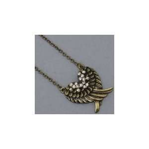 Womens Jewelry, Gold Burnished Angel Wings Necklace / Pendant Jewelry