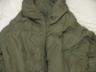 Vintage N 3B Parka Military Flight Air Force Stenciled Jacket Size L