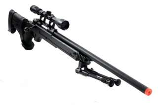 510 FPS Airsoft SR22 Type 22 Sniper Rifle Bipod & Scope
