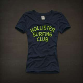 NWT HOLLISTER Abercrombie Womens Graphic Logo T Shirt Tee Shirts Top