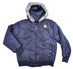Akademiks Boys Light Navy Blue Outerwear Coat Size 8 10/12 14/16 18/20