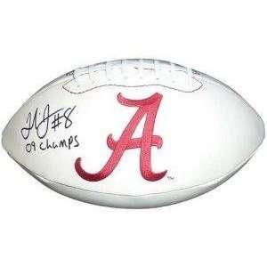 Julio Jones signed Alabama Crimson Tide Logo Football 09