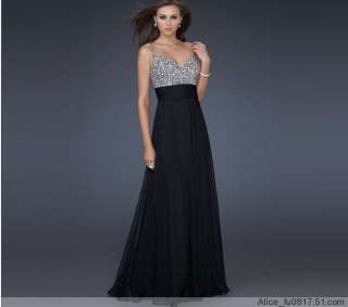 Sexy Chiffon Long Formal Prom Party Ball Cocktail Evening Dress Custom