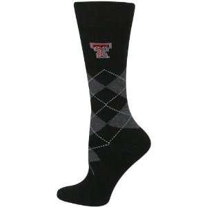 NCAA Texas Tech Red Raiders Ladies Black Argyle Tall Socks