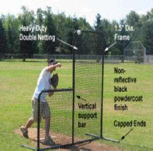 55 Batting Cage Frame, #42 Net, L Screen, Free Target