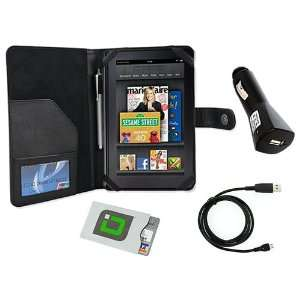charge USB Cable for the Kindle Fire, Car Charger and a Credit Card