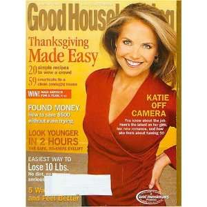 Housekeeping November 2006 Katie Couric. Found Money, Thanksgiving