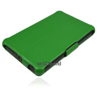 Kindle Fire Green Leather Case Cover With Multi Angle Stand