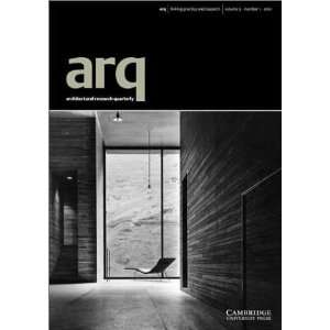 arq: Architectural Research Quarterly: Volume 5, Part 1