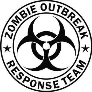 Zombie Outbreak Response Team Black Die Cut Vinyl Decal