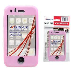 MyBat Pink Apple iPhone 3G/3GS Skin Cover Cell Phones