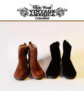 Nine West Vintage America FINCHY Ladies Black / Brown Ankle Boots