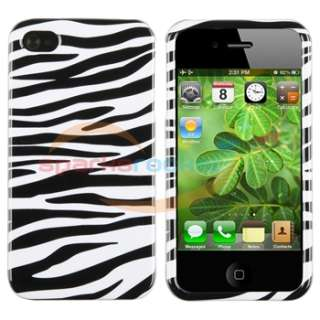 Animal Zebra Print Hard Case Skin Cover+AU Wall Home Charger For