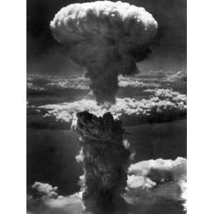 Atomic Bomb Smoke Capped by Mushroom Cloud Rises More Than