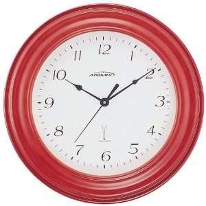 Atomix 00567 11 1/4 Atomic Clock (Red Finish Ridged