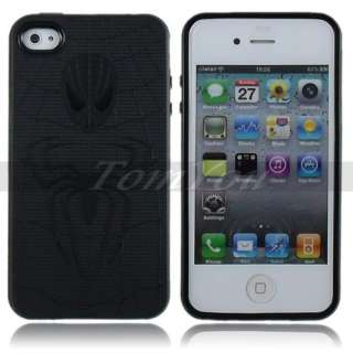 Fashion Black Soft TPU Rubber Spider man Style Skin Case Cover For