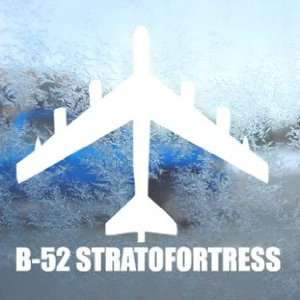 B 52 STRATOFORTRESS White Decal Military Soldier Car White
