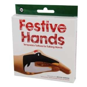 Festive Hands Temporary Talking Hand Tattoos: Toys & Games