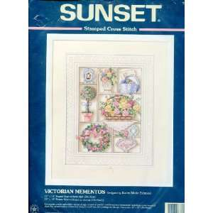 Sunset Stamped Cross Stitch ~ Victorian Mementos Designed