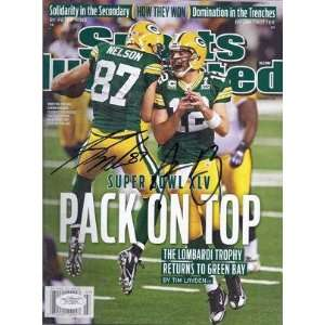 Jordy Nelson & Aaron Rodgers Autographed Green Bay Packers