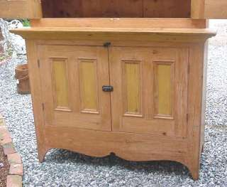GORGEOUS EARLY CANADIAN PINE STEPBACK CUPBOARD   CIRCA 1870