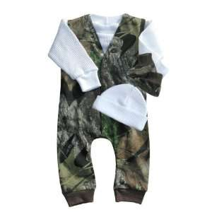 Infant Boys LS Camo Jumper Set (Newborn,Realtree Hardwoods
