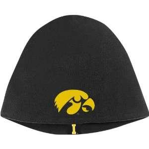 Iowa Hawkeyes Adidas Black Toboggan Knit Beanie Cap