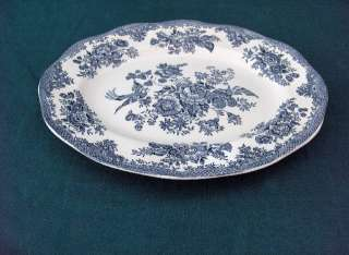 PREMIERE CHINA, ASIATIC PHEASANTS,BLUE,WHITE,OVAL TRAY