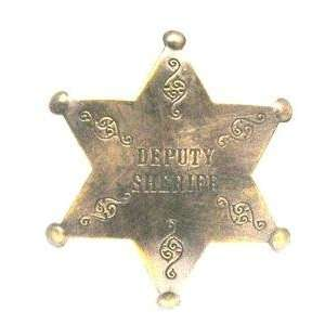 Brass Deputy Sheriff Obsolete Old West Police Badge Everything Else