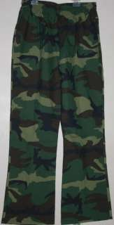 NEW WOMENS MEDICAL UNIFORM SCRUB CAMUFLAGE TRIX PANTS