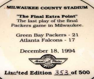 STADIUM Green Bay Packers NFL Atlanta Falcons Football Plate