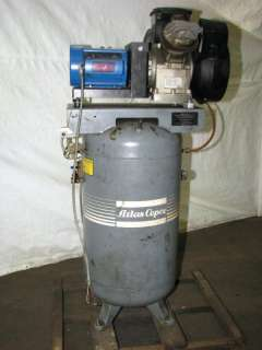 Atlas Copco 5 HP Vertical Tank Air Compressor LE7 UV 60 Gallon
