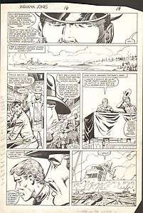 HERB TRIMPE   INDIANA JONES No. 16, original art page, 1983, nice