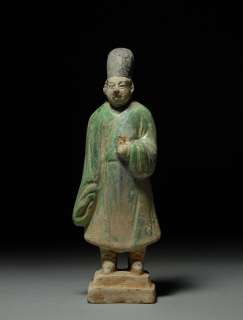Chinese Ming Dynasty Pottery Statue Court Attendant Figure