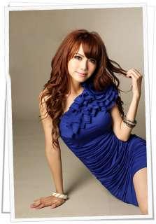 FANCYQUBE SEXY ONE SHOULDER FLOWER MINI DRESS 2140